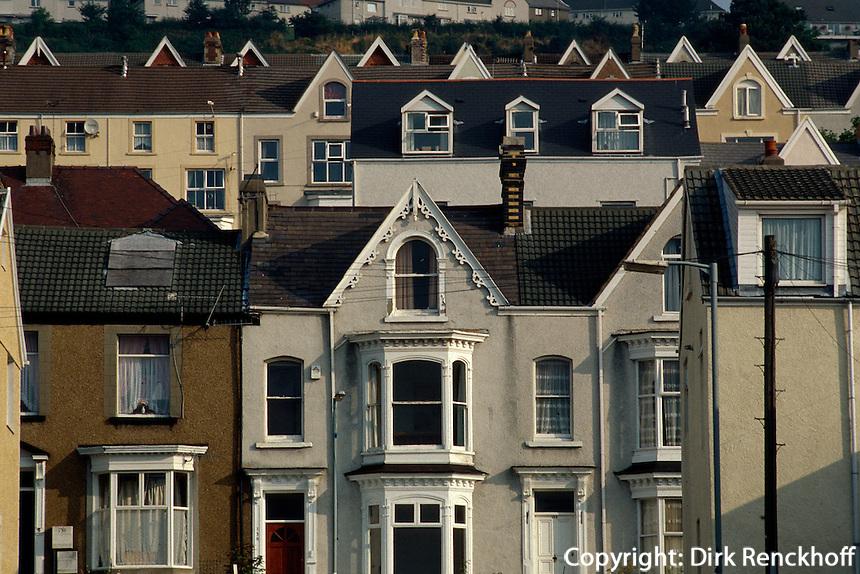 Großbritannien, Wales, Swansea, Wohnhäuser