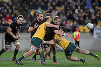 All Blacks' Owen Franks in action during the All Blacks v Wallabies. The Rugby Championship & Bledisloe Cup at Westpac Stadium, Wellington, New Zealand on Saturday 27 August 2016.<br /> Photo by Masanori Udagawa. <br /> www.photowellington.photoshelter.com.