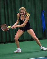 Rotterdam, The Netherlands, 07.03.2014. NOJK ,National Indoor Juniors Championships of 2014, Annabelle Hageman (NED)<br /> Photo:Tennisimages/Henk Koster