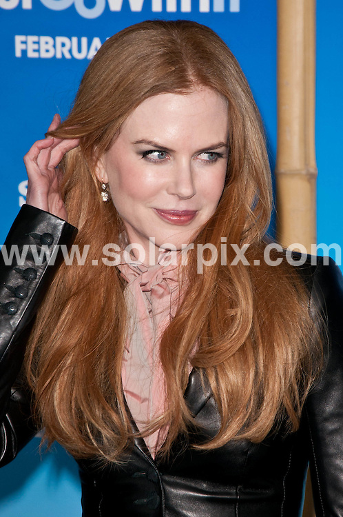 **ALL ROUND PICTURES FROM SOLARPIX.COM**                                             **SYNDICATION RIGHTS FOR UK, AUSTRALIA, DENMARK, PORTUGAL, S. AFRICA, SPAIN & DUBAI (U.A.E) & ASIA (EXCLUDING JAPAN) ONLY**                                                                                  Caption:  arrivals at the Just Go with It premiere, held at the Ziegfeld Theater - New York City, NY, USA. 8 February 2011                                                                            This pic: Nicole Kidman                                                                                         JOB REF: 12771 PHZ Smith      DATE: 08_02_2011                                                           **MUST CREDIT SOLARPIX.COM OR DOUBLE FEE WILL BE CHARGED**                                                                      **MUST AGREE FEE BEFORE ONLINE USAGE**                               **CALL US ON: +34 952 811 768 or LOW RATE FROM UK 0844 617 7637**