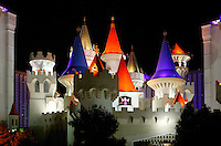 The Excalibur Casino and Hotel, Las Vegas, Nevada.