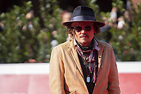 """US actor Johnny Depp arrives on October 17, 2021 at the Auditorium Parco della Musica for the 19th edition of """"Alice nella citta"""", an autonomous and parallel section of the 16th Rome Film Festival, where Depp presents the animated TV mini series """"Puffins"""", in which he acts as voice talent.<br /> UPDATE IMAGES PRESS"""