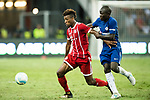 Bayern Munich Forward Kingsley Coman (L) fights for the ball with Chelsea Midfielder N'Golo Kante (R) during the International Champions Cup match between Chelsea FC and FC Bayern Munich at National Stadium on July 25, 2017 in Singapore. Photo by Weixiang Lim / Power Sport Images