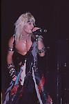 Vince Neil of Motley Crue Jan 1984 at New Haven Coliseum.