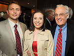 From left: Cameron Javipdvour, Rachel Gass and Peter Brown at the Holocaust Museum Houston's 2010 Lyndon Baines Johnson Moral Courage Award Dinner at the Hilton Americas Houston Monday May 03,2010.  (Dave Rossman Photo)