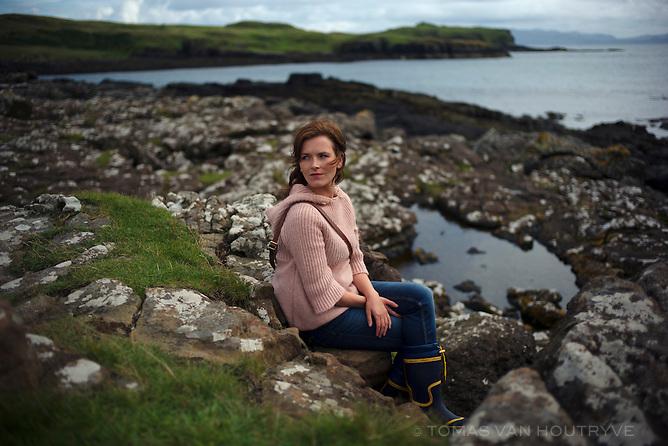 Yasmine, 22, is seen on the Isle of Eigg, Scotland.