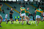 David Clifford, Kerry celebrates after scoring his side's third goal with his brother Paudie during the Allianz Football League Division 1 South Round 1 match between Kerry and Galway at Austin Stack Park in Tralee.