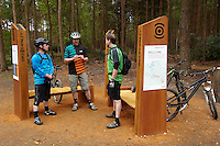 Steve , Rowan Sorrell and Ben .  Swinley Forest ,  opening of the new trails  , May  2013.      pic copyright Steve Behr / Stockfile