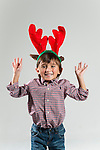 WATERBURY, CT- 10 December 2015-121015EC11-  Christmas Kids Metro. Mason Massicotte, 4, of Naugatuck, says his favorite part of the holiday is helping with hanging the lights. He wants a toy race car for Christmas. Erin Covey Republican-American