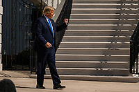 United States President Donald J. Trump walks to Marine One on the South Lawn of the White House on Thursday, October 15, 2020. Trump will deliver remarks at a Fundraising Committee Reception in Doral, FL<br /> and participate in a Live NBC News Town Hall Event.  <br /> CAP/MPI/RS<br /> ©RS/MPI/Capital Pictures