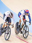 Max Niederlag of Germany and Ryan Owens of Great Britain compete on the Men's Sprint Quarter-finals - 2nd Race during the 2017 UCI Track Cycling World Championships on 15 April 2017, in Hong Kong Velodrome, Hong Kong, China. Photo by Chris Wong / Power Sport Images