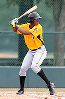GCL Pirates outfielder Gavi Nivar #55 during a game against the GCL Braves at Disney Wide World of Sports on June 25, 2011 in Kissimmee, Florida.  The Pirates defeated the Braves 5-4 in ten innings.  (Mike Janes/Four Seam Images)