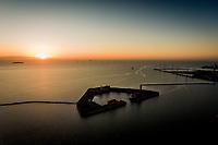 Corona Lockdown. Stille morgen set fra Langelinie på Østerbro i København. Billeder taget mellem 5:37 og 6:37 fredag den 17. april. Foto: Jens Panduro Trekronerfortet.
