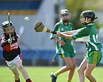 Darragh Perrill of Mountshannon/Lackyle  in action against Gearoid Barry of Kilnamona during their Schools Division 3 final at Cusack Park. Photograph by John Kelly