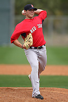 March 18, 2010:  Pitcher Drake Britton (75) of the Boston Red Sox organization during Spring Training at Ft.  Myers Training Complex in Fort Myers, FL.  Photo By Mike Janes/Four Seam Images