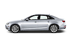 Car Driver side profile view of a 2017 Audi A4 Premium 4 Door Sedan Side View