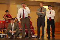 STANFORD, CA - FEBRUARY 6:  Assistant coach Matt Gentry of the Stanford Cardinal during Stanford's 20-19 win against the Arizona State Sun Devils on February 6, 2009 at Burnham Pavilion in Stanford, California.
