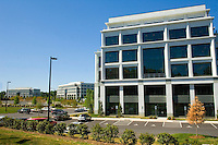 One of several structures in Charlotte, NC's, Whitehall Corporate Center. The center, located at Arrowood Road and I-485, is a part of the master-planned Whitehall community, one of the market?s largest mixed-use projects located in Charlotte?s rapidly growing southwest corridor.