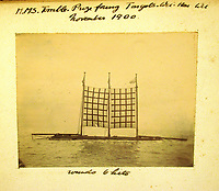 BNPS.co.uk (01202) 558833<br /> Pic: Charles Miller/BNPS<br /> <br /> Make shift floats were created as target practice for the ship<br /> <br /> A fascinating photo album compiled by a British naval officer on tour in the Far East at the turn of the 20th century has come to light.<br /> <br /> Taprell Dorling served on the HMS Terrible in 1900 at the start of an over 30 year career at sea.<br /> <br /> The album, containing 74 photos, has emerged for sale with auctioneers Charles Miller, of London, with an estimate of £3,000.