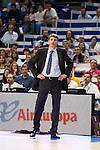 Laboral Kutxa's Coach Velimir Perasovic during Liga Endesa ACB at Barclays Center in Madrid, October 11, 2015.<br /> (ALTERPHOTOS/BorjaB.Hojas)