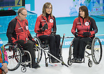 Ina Forrest, Dennis Thiessen, and Sonja Gaudet, Sochi 2014 - Wheelchair Curling // Curling en fauteuil roulant.<br />