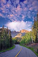 Road with Wheeler Peak. Great Basin National Park, Nevada
