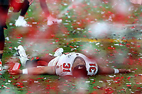 7th February 2021, Tampa Bay, Florida, USA;  Antoine Winfield Jr. (31) lays on the field after the Super Bowl LV game between the Kansas City Chiefs and the Tampa Bay Buccaneers on February 7, 2021 at Raymond James Stadium
