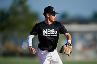 Duce Gourson (2) during the WWBA World Championship at Lee County Player Development Complex on October 8, 2020 in Fort Myers, Florida.  Duce Gourson, a resident of San Diego, California who attends Point Loma High School, is committed to Arizona.  (Mike Janes/Four Seam Images)