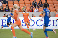 Houston, TX - Sunday Sept. 25, 2016: Jessica Fishlock, Janine Beckie during a regular season National Women's Soccer League (NWSL) match between the Houston Dash and the Seattle Reign FC at BBVA Compass Stadium.