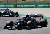 1st May 2021; Algarve International Circuit, in Portimao, Portugal; F1 Grand Prix of Portugal, qualification sessions;  Valtteri Bottas FIN 77, Mercedes-AMG Petronas Formula One Team and Lewis Hamilton GBR 44, Mercedes-AMG Petronas Formula One Team