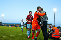 Goalkeeper Sean Barron of Cobh Ramblers celebrates at full time.<br /> <br /> Cobh Ramblers v Cork City, SSE Airtricity League Division 1, 28/5/21, St. Colman's Park, Cobh.<br /> <br /> Copyright Steve Alfred 2021.