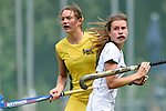 GER - Mannheim, Germany, May 24: During the U16 Girls match between Australia (green) and Germany (white) during the international witsun tournament on May 24, 2015 at Mannheimer HC in Mannheim, Germany. Final score 0-6 (0-3). (Photo by Dirk Markgraf / www.265-images.com) *** Local caption *** Philippa Morgan #11 of Australia, Nika Boenisch #9 of Germany