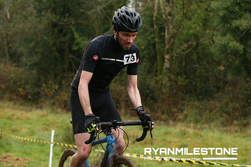 EVENT:<br /> Round 5 of the 2019 Munster CX League<br /> Drombane Cross<br /> Sunday 1st December 2019,<br /> Drombane, Co Tipperary<br /> <br /> CAPTION:<br /> Alan Lyons of Panduit Carrick Wheelers in action during the B Race<br /> <br /> Photo By: Michael P Ryan