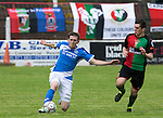 Glentoran v St Johnstone…. 09.07.16  The Oval, Belfast  Pre-Season Friendly<br />Blair Alston and Paddy Cafolla<br />Picture by Graeme Hart.<br />Copyright Perthshire Picture Agency<br />Tel: 01738 623350  Mobile: 07990 594431