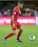 WASHINGTON, D.C. - OCTOBER 11: Christian Pulisic #10 of the United States moves with the ball during their Nations League game versus Cuba at Audi Field, on October 11, 2019 in Washington D.C.