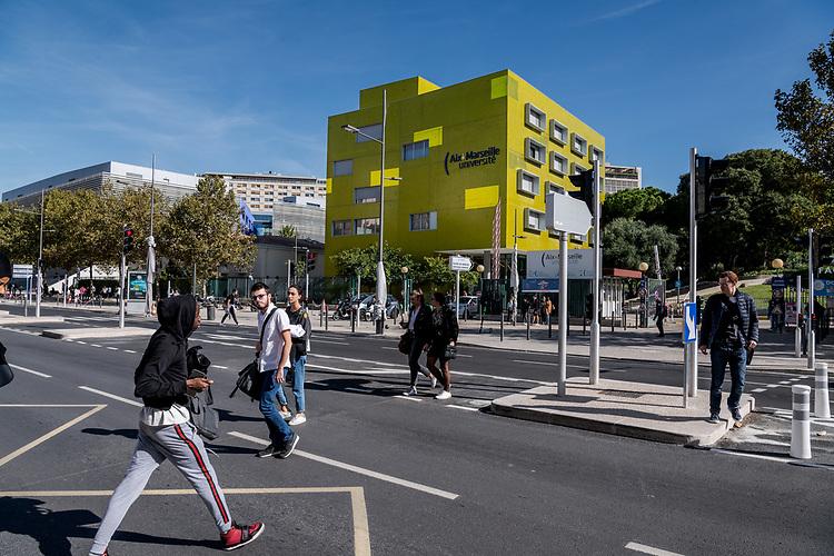 Avenue du Jarret et Faculté de Médecine de la Timone avec Hôpital - Marseille