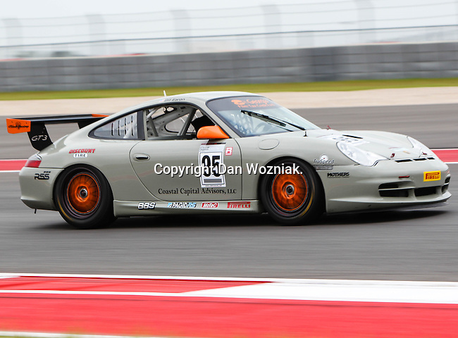 Bill Ziegler (95) in action during the V8 Supercars and the Porsche GT3 Cup cars practice sessions at the Circuit of the Americas race track in Austin,Texas. ..