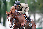 Spain's jockey Juan Queipo de Llano with the horse Capote during 102 International Show Jumping Horse Riding, King's College Trophy. May, 20, 2012. (ALTERPHOTOS/Acero)