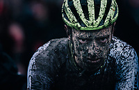 Quinten Hermans (BEL/Tormans) after finishing this muddy race<br /> <br /> UCI cyclo-cross World Cup Dendermonde 2020 (BEL)<br /> <br /> ©kramon