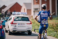 Davide Martinelli (ITA/Quick-Step Floors) getting his musette from the teamcar<br /> <br /> 98th Brussels Cycling Classic 2018<br /> One Day Race:  Brussels > Brussels (201km)