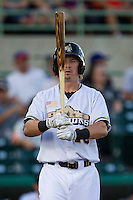 San Antonio Missions first baseman Lee Orr (15) at bat in the Texas League baseball game against the Frisco Roughriders on August 22, 2013 at the Nelson Wolff Stadium in San Antonio, Texas. Frisco defeated San Antonio 2-1. (Andrew Woolley/Four Seam Images)