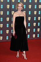 Gillian Anderson<br /> arriving for the BAFTA Film Awards 2020 at the Royal Albert Hall, London.<br /> <br /> ©Ash Knotek  D3554 02/02/2020