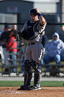 February 26, 2010:  Catcher Kevin Griffin of the West Virginia Moutaineers during the Big East/Big 10 Challenge at Bright House Field in Clearwater, FL.  Photo By Mike Janes/Four Seam Images