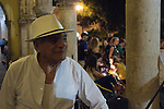 Evening concerts and dancing shows are held at the downtown plaza in Merida. Here dancing in front of the Plaza de la Independencia.