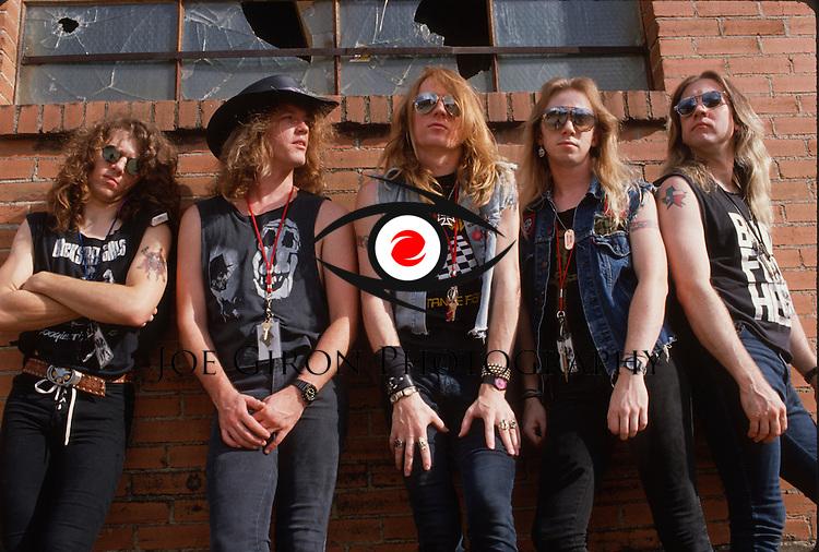 Various portraits & live photographs of the rock band, Dangerous Toys