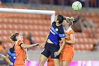 Houston, TX - Sunday June 19, 2016: Yael Averbuch, Ellie Brush during a regular season National Women's Soccer League (NWSL) match between the Houston Dash and FC Kansas City at BBVA Compass Stadium.