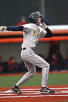 April 11, 2008:  University of Michigan Wolverines starting infielder Jason Christian (6) at bat against the University of Illinois Fighting Illini at Illinois Field in Champaign, IL.  Photo by:  Chris Proctor/Four Seam Images