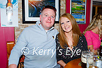 Enjoying the evening in Christy's Bar in Listowel on Thursday, l to r: Paddy and Geraldine Brosnan from Listowel.