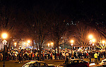 Naugatuck, CT-18 December 2012-121812CM07- Hundreds of people packed the Naugatuck Green during a vigil honoring the late Dawn Lafferty Hochsprung, a Naugatuck, who was killed during the Sandy Hook Elementary School shooting.  Hochsprung was the principal at the Sandy Hook.    Christopher Massa Republican-American