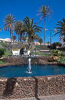 Portugal, Porto Santo, Brunnen im Stadtpark in Vila Baleira